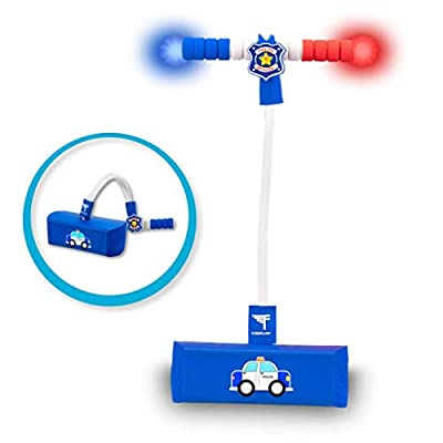 Flybar My First Foam Pogo Jumper for Kids Fun and Safe Pogo Stick for Toddlers, Durable Foam and Bungee Jumper for Ages 3 and up, Supports up to 250lbs (Police Car)