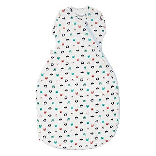 Tommee Tippee Baby-Schlafsack, The Original Grobag Snuggle, weicher Baumwollstoff, 3-9 m, 1.0 Tog, Katze und Maus