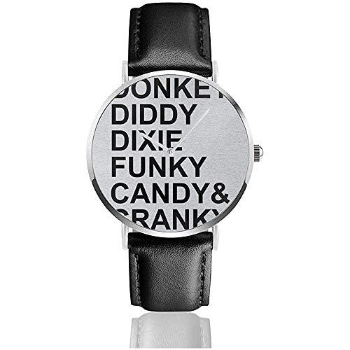 Lista de Personajes Unisex Donkey Kong Relojes Reloj de Cuero de Cuarzo...