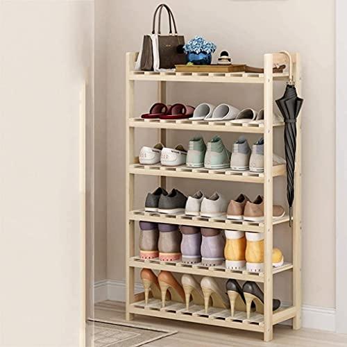 EPYFFJH Pasadora de zapatos de madera, Armario de 7 niveles Zapatos de almacenamiento de calzado de almacenamiento Soporte de zapatería Soporte de zapatería Estable Duración Estable Organizador de est