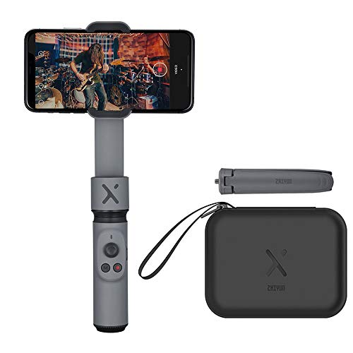 【公式旗艦店】ZHIYUN Smooth-Xスマートフォン用ポータブルジンバルスタビライザー,iPhoneとAndroidに対応しています,26cmの伸縮ポールを内蔵した手ぶれ防止の自撮り棒,主にVlogやYoutuberで使用されています