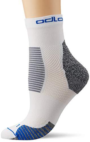 Odlo Ceramicool Stabilizer Socken, White/Nebulas Blue, 39-41