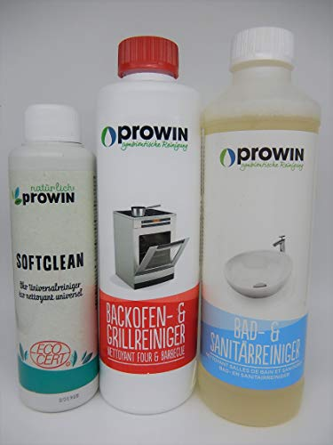 proWIN Set - BACKOFEN- & GRILLREINIGER 0,5 L + Bad & SANI 0,5 L + SOFTCLEAN 250 ml