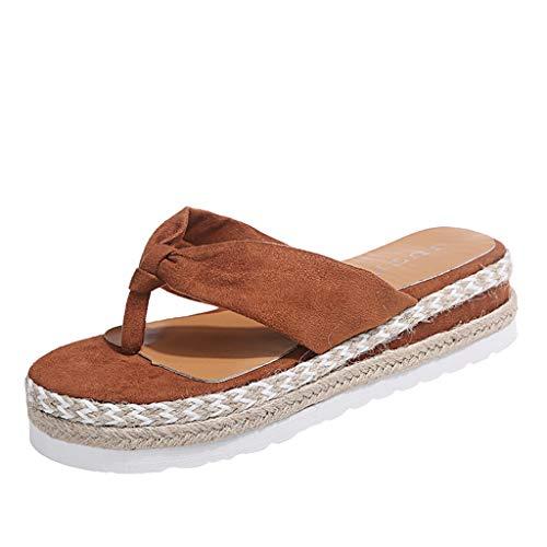 Sandalias para mujer, zapatos de tacón para mujer, zapatillas de estar por casa, con plataforma y cuñas, para verano, con hebilla, chanclas 2021 Diseño casual