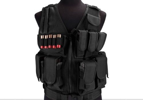 Limited edition Airsoft Zombie Hunter Starter's Tactical Vest Package - Black