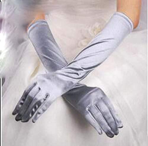 HANJIAJKL Opera Handschuhe Lange Satinhandschuhe/Satinhandschuhe/für die Oper, Leistung,J
