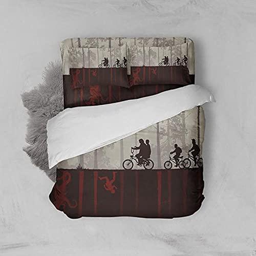 KIrSv Funda de Almohada nórdica cepillada con patrón de impresión 3D, Familiares y Amigos,decoración de Dormitorio,apartamento,Mejor Ropa de Cama-6_180 * 210cm(3pcs)