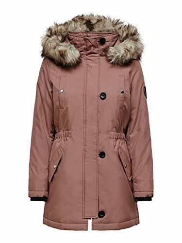 Only Onliris Fur Winter Parka CC Otw Chaqueta, Burlwood, L para Mujer