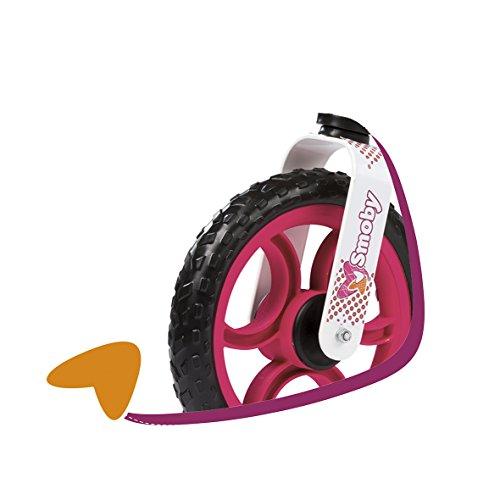 Smoby - 770103 - Draisienne Confort Enfant avec Roues Silencieuses - Siège Réglable - Béquille Intégrée - Orange