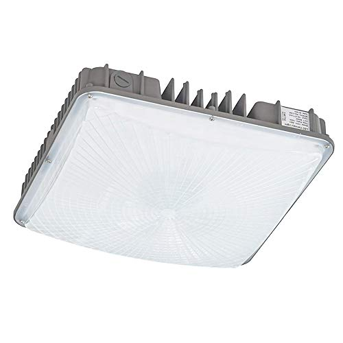 KCCCT LED Canopy Lights Outdoor Gas Station 45W 5000K HID/MH Equivalent to 500W HID 5850Lumens Die Cast Aluminum Waterproof IP65 Daylight Nature White Warehouse Store Workshop