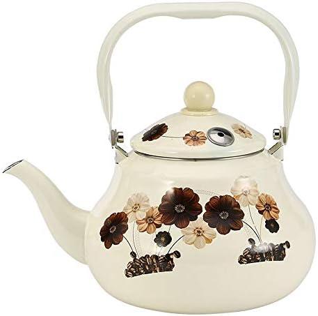 Tea Pot Stovetop Kettles Enamel On Steel Teapot Floral Large Porcelain Enameled Teakettle Colorful product image