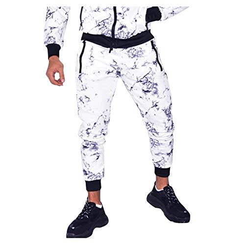 Meilily Herren Casual Fitness gedruckt Bodybuilding Pocket Sporthose in voller...