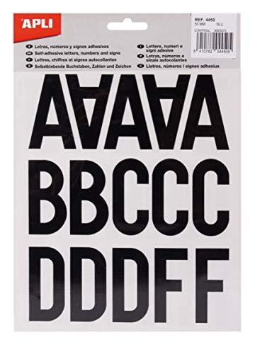 APLI 4450 sticker letters, cijfers en tekens 50 mm, zwart