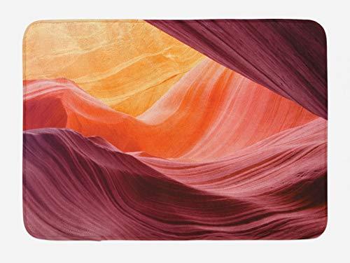 ABAKUHAUS Americano Tapete para Baño, Paisaje del Gran Cañón, Decorativo de Felpa Estampada con Dorso Antideslizante, 45 cm x 75 cm, Tan púrpura