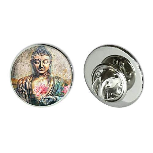 GRAPHICS & MORE Buddha Pink Lotus Flowers Serenity Metal 0.75' Lapel Hat Pin Tie Tack Pinback