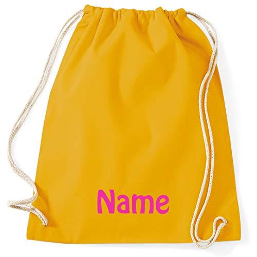 Sacca da palestra con nome ricamato in 100% cotone, borsa sportiva, sacco da nuoto, sacca da palestra, borsa da palestra 100x2,6/1,0x32mm Z=30 ES R