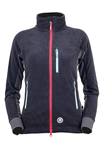 Milo Anas Lady Women's Fleece Jacket Colour-Black/Dark Grey, Size-Extra Large Veste en Polaire Femme, Noir/Gris foncé, XL