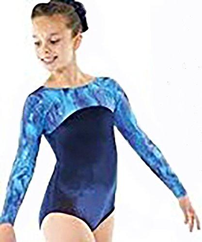Tappers & Pointers Girls Gymnastics Longsleeve Velvet Leotard - GYM23 (11-12 YEARS)