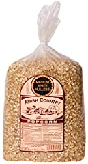 6 LBS OF MEDIUM WHITE POPCORN KERNELS - This delicious, gourmet popcorn is made in the heart of Amish country. 15 AMAZING POPCORN RECIPES - Your purchase comes with our Fantastic Recipe Guide eBook. You don't even have to search for recipes, we've do...