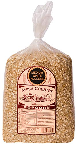 Amish Country Popcorn | 6 lb Bag | Medium White Popcorn Kernels | Old Fashioned with Recipe Guide (Medium White - 6 lb Bag)