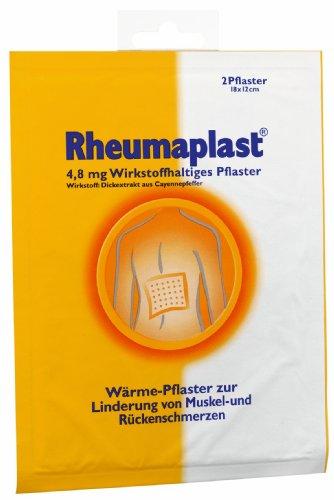 Hansaplast Rheumaplast Wärmepflaster, 1er Pack (1 x 2 Stück)