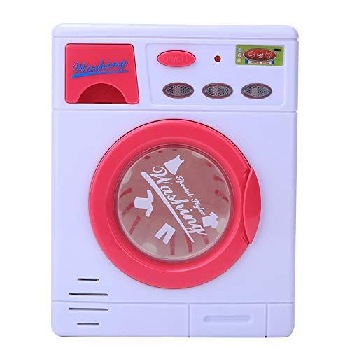 Ruiqas Simulation Machine à Laver Enfants Machine à Laver Jouet Appareil Ménager Lumière Son Jouet Éducatif