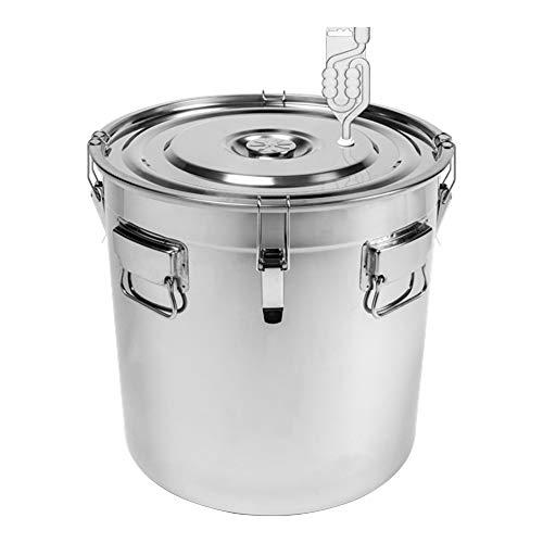 Browin 60L Edelstahl Behälter für die Fermentation Gärbehälter Gäreimer Gärbottich Gärfass