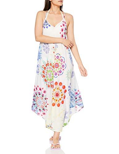 Desigual Damen Vest_Manly Kleid, Weiß (Blanco 1000), Small (Herstellergröße:S)