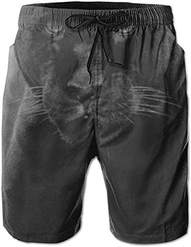 Pantalones Cortos De Playa Transpirables para Hombre Bañador Pantalones Cortos Jungle Animal Leopard De Secado Rápido Adecuado para Surf De Verano Y Junto A La Piscina-XXL