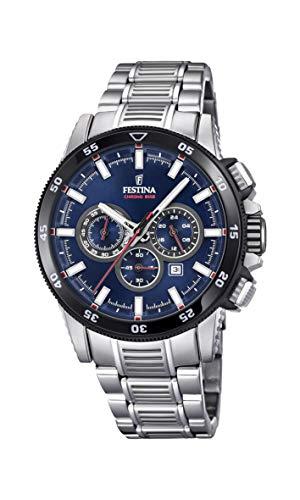 Festina Herren Chronograph Quarz Smart Watch Armbanduhr mit Edelstahl Armband F20352/3