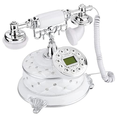 COHU Teléfono Vintage, teléfono Retro, Piedra Preciosa de imitación Decorativa para Hotel de Oficina en casa