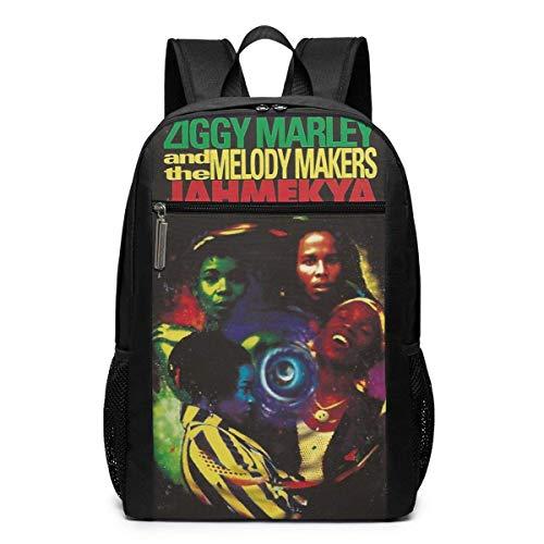 ZYWL Ziggy Marley 17 '' Klassischer multifunktionaler Rucksack mit hoher Kapazität und Computertasche Schwarz