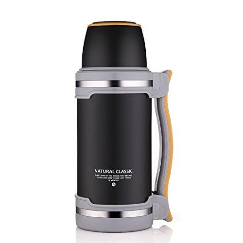 Oneisall GYBL074 - Gourde thermos à double paroi en acier inoxydable - Isolation sous vide - Sans BPA - 2L - Pour la randonnée, le camping, l'exercice, etc.