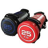 turkeybaby Sacco di Sabbia 5 kg, 10 kg, 15 kg, 20 kg, 25 kg, 30 kg - Perfetto per Il Sollevamento Pesi, Boxe MMA Training Fitness, Esercizio-Corsa-Power Bag Nero 10kg