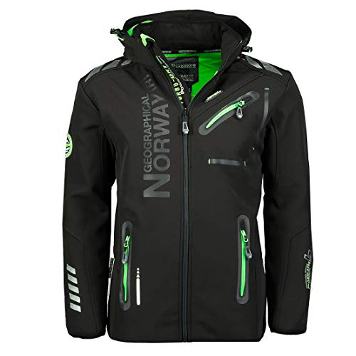 Geographical Norway 86L2 Amazon II Rainman Herren Softshell Schwarz Gr. XL
