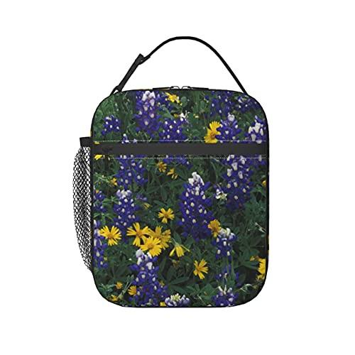 N.A, USA, Texas, Marble Falls, Blue Bonnets Lunch Box per le donne, borsa termica con tracolla congelabile impermeabile per picnic pasto scolastico e ufficio