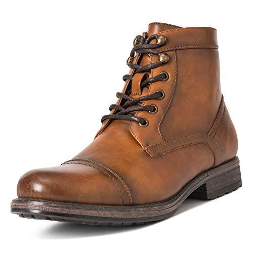 Herren Queensberry Albert Leder Schuhe Business Arbeit Büro Stiefeletten - Braun - EU43/UK9 - QB0019