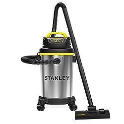 Stanley Wet/Dry Vacuum, 4 Gallon, 4 HP, Stainless Steel Tank