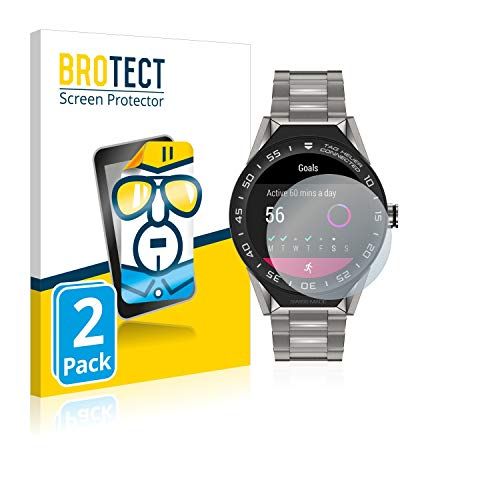 BROTECT Protector Pantalla Compatible con Tag Heuer Connected Modular 45 Protector Transparente (2 Unidades) Anti-Huellas