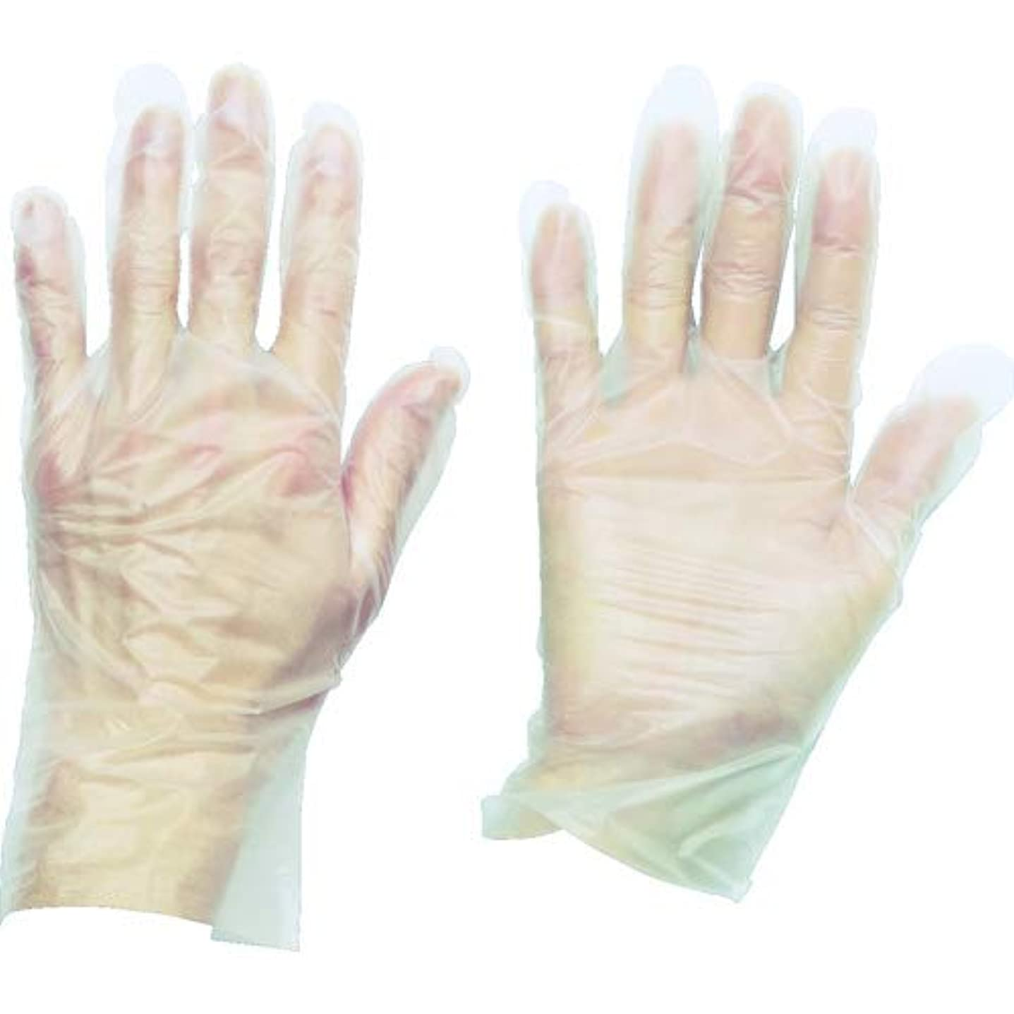 牧師ネブ高音トラスコ中山 株 TRUSCO ポリエチレン 使い捨て手袋 ウェーブカットタイプS 100枚入 TGCPE025S