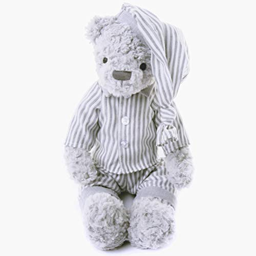 Huemny 30cm Pajamas Bear Plush Toys Kids Toys Baby Appease Doll Kawaii Soft Clothes Bear Stuffed Toys Gift for Couples