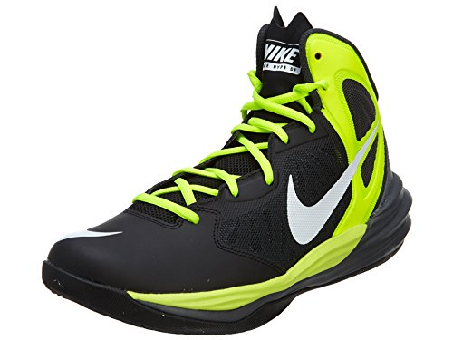 Nike Men's Prime Hype Df Black/White/Anthracite/Volt Basketball Shoe 8.5 Men US