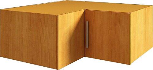 Trasman 1034cerezo Eck-Oberschrank, melaminharzbeschichtete Holzspanplatten, kirsch, 91.5 x 91 x 41 cm