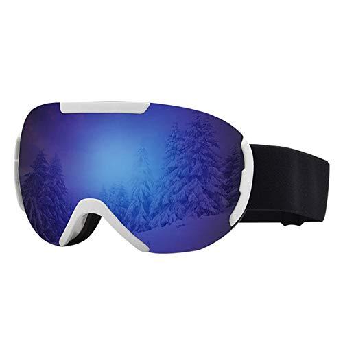 YDL Gafas De Esquí Gafas Esféricas Grandes Anti-Fog Anti-Fog Anti-Snow Goggles Gafas De Montañismo Suministros De Esquí Suministros a Prueba De Viento (Color : Blue)