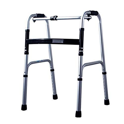 Walker Andador Plegable de Viaje para Trabajo Pesado Marco para Caminar bariátrico para Adultos para Personas Mayores Ayuda a la Movilidad para discapacitados |Ayuda para Caminar Ancha MAX.180 kg
