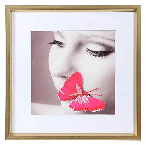 Ideal Style Kunststoff Bilderrahmen quadratisch 20x20 30x30 40x40 50x50 Rahmen: Farbe: Gold | Format: 20x20