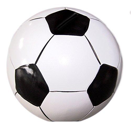 HausderHerzen Spardose Sparbüchse Fußballform schwarz Sparschwein Fußball.