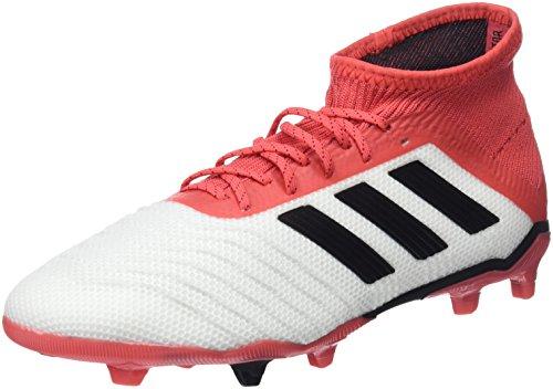 Adidas Predator 18.1 Fg J, Botas de Fútbol Unisex Niños, Blanco (Ftwbla/Negbas/Correa 000), 38 EU