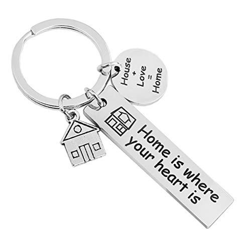 WINCSPACE Llavero para parejas de recién inauguración de la casa, regalo para la familia (Love Home)