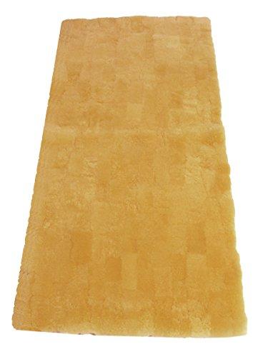 Leibersperger Bettfell/Bettauflage echtes Lammfell Patchwork 150cmx70cm + Fellwaschmittel 200ml